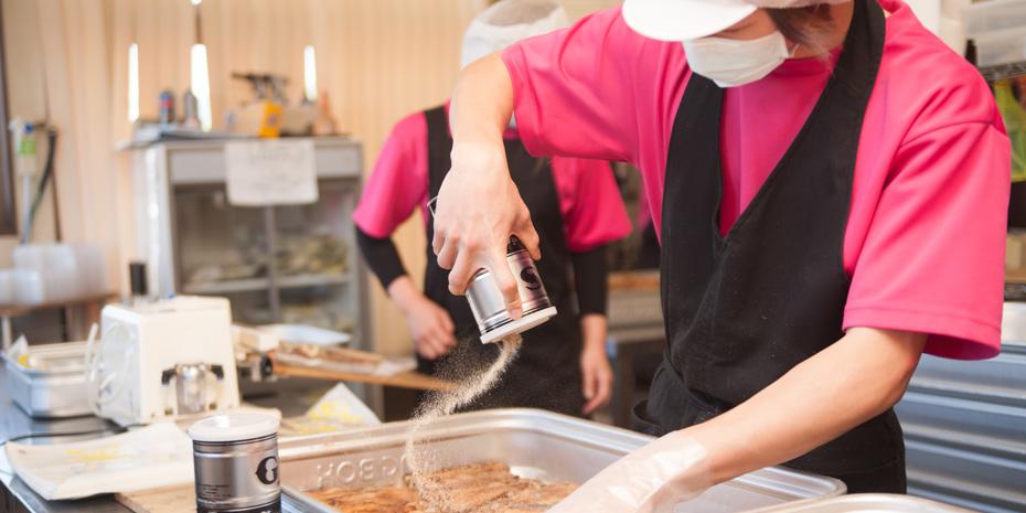 山歩(さんぽ)厨房風景
